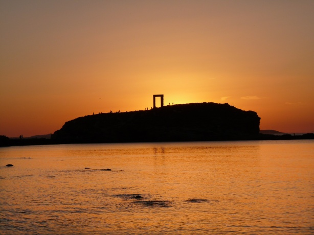 Portara sunset